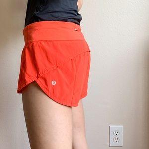 lululemon athletica Shorts - Lululemon Orange Speed Up Short 8